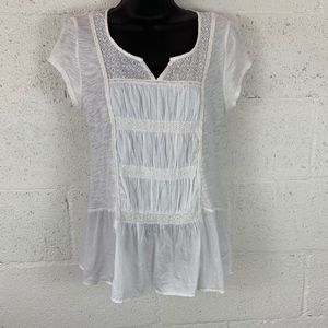 Meadow Rue Anthropologie Sz S White Boho Top